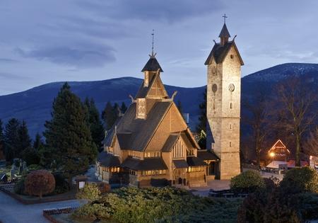 black giant mountain: Karpacz church Wang