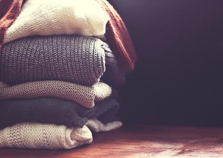 woolen fabric: su�ter primer Foto de archivo
