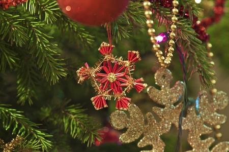 Christmas ornaments on tree  photo