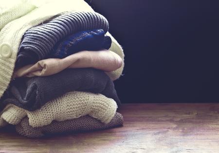 ropa de invierno: suéter primer Foto de archivo