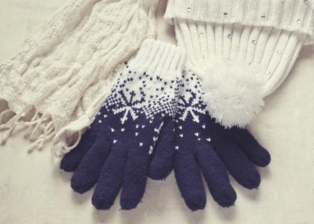 冬のアクセサリー 写真素材
