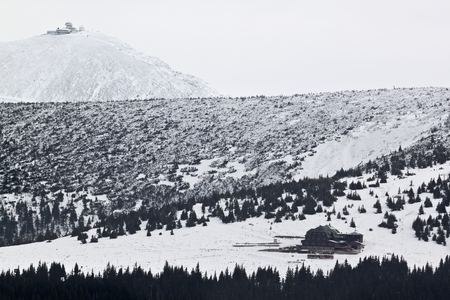 sudetes: Karkonosze mountains during wintertime