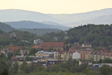 gora: Jelenia Gora seen from above