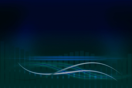 elegantly: Modern blue background with abstract smooth lines Stock Photo
