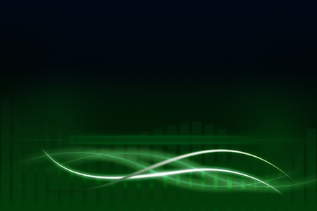 elegantly: Modern green background with abstract smooth lines Stock Photo