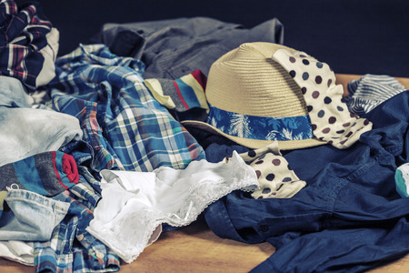 cotton panties: messy clothes