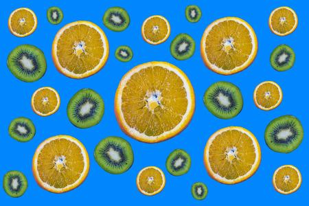 Fruit pattern: kiwi and orange