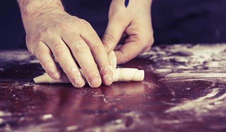 Making croissant Stock Photo