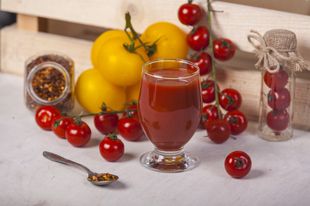 Vegetable juice or smoothie Stock Photo
