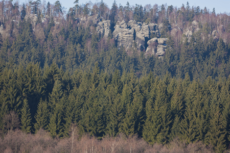 Rocks near National Park of Adrpsach and Teplice, Czech Republic Imagens