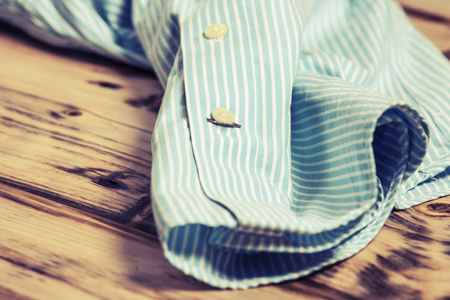 Piece of sleeve cotton shirt. Pure cotton fabric
