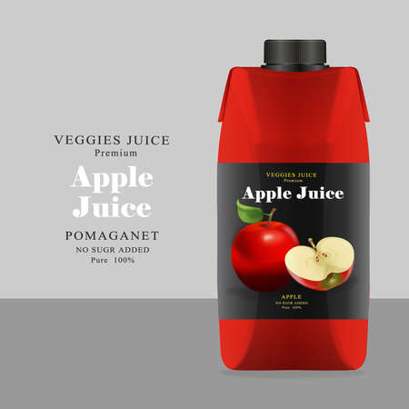 pasteurized: Package and Label apple Juice Illustration