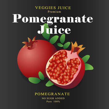 pomegranate juice: Fruit Label Pomegranate Juice