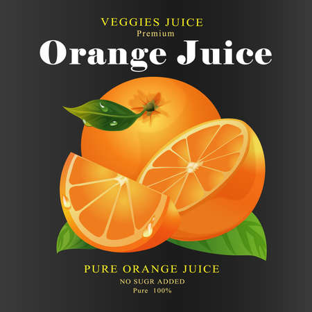 pasteurized: Fruit Label orange Juice