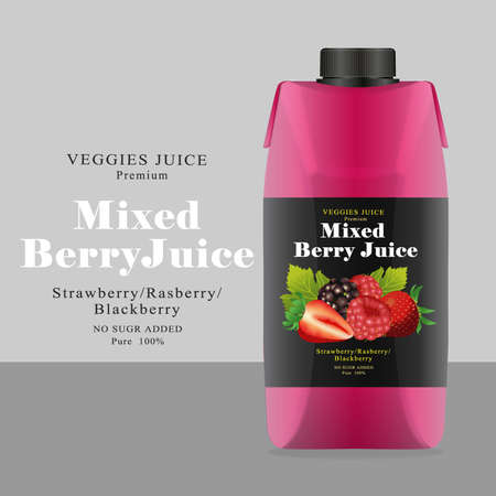 rasberry: Package and Label mixed berry Juice