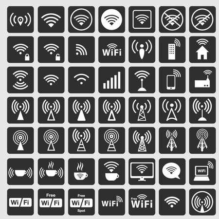 icono wifi: blanco del icono del wifi