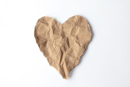 Heart Recycle Paper Stock Photo