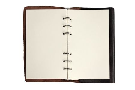 Leather note book Stock Photo - 7680333