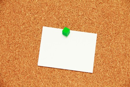 cork board background with paper Stock Photo - 8092169