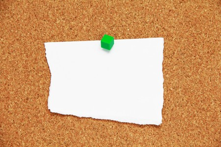 cork board background with rip paper Stock Photo - 8092167