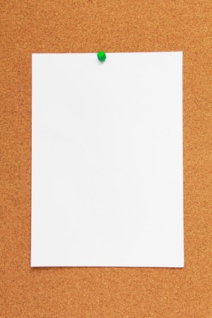 cork board background with A4 paper Stock Photo