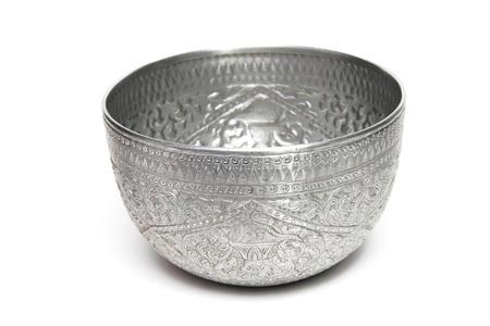 silver bowl Stock Photo