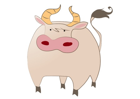 Cute Ox Stock Vector - 16251254