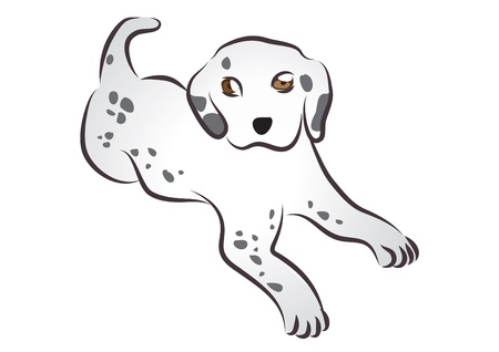 Cute Dalmatian Stock Vector - 16482761