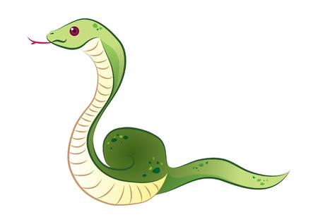Green Snake Stock Vector - 16686031