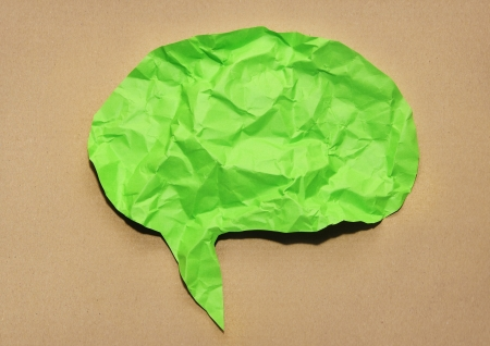 Speech bubble Paper Stock Photo