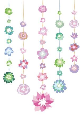 Garlands of flowers Stock Vector - 18117875