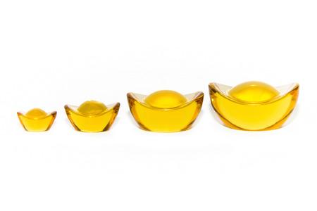 Golden yellow ingots 免版税图像