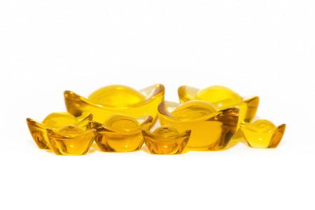 Golden yellow ingots