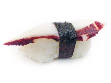 Tako Sushi on white background