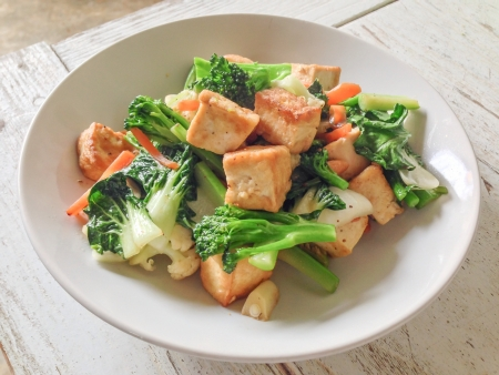 Bean curd with vegetable