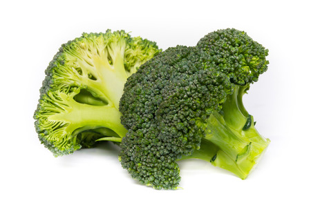 Broccoli on the white background