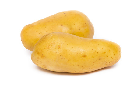 potatos on white background photo