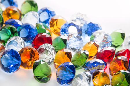 diamante: Los diamantes multicolores de fondo Foto de archivo