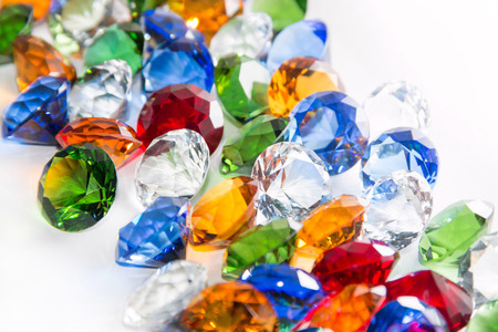 beautifu: Multicolored Diamonds Background