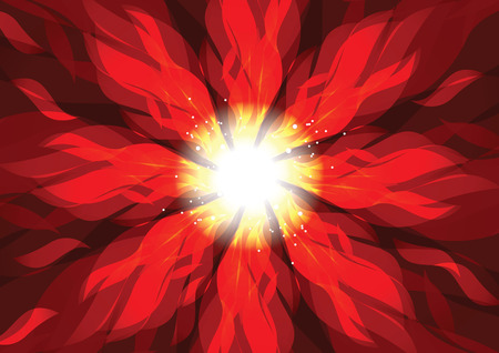 The spin burn flame fire vector background