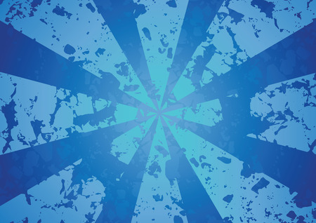 Blue radius abstract background Illustration
