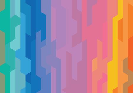 Abstract rainbow modern shape background