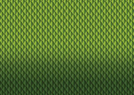 Green leaves pattern vector illustration Illustration