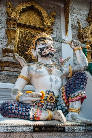 Statue in Thai temple  Stock Photo