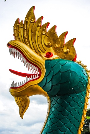 naga thai and laos dragon Stock Photo