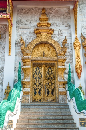 Church door of the temple in thailand