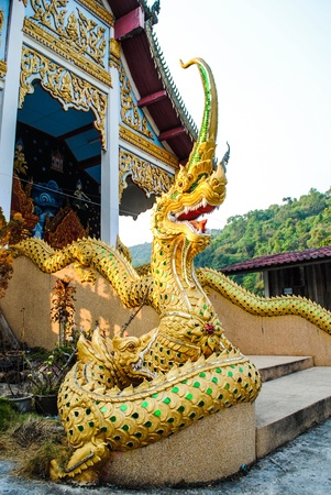 Dragon in a Thai temple.