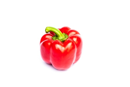 Healthy food. Fresh vegetables. Peppers on a white background. Stock Photo