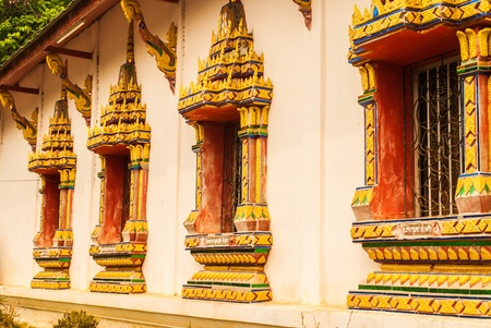 Window of Thai temples.