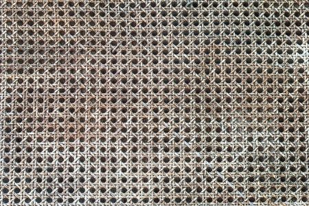 Old handicraft weave texture natural wicker